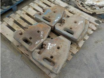 Case Counterweights to suit Tractor (12 of) - ellensúly