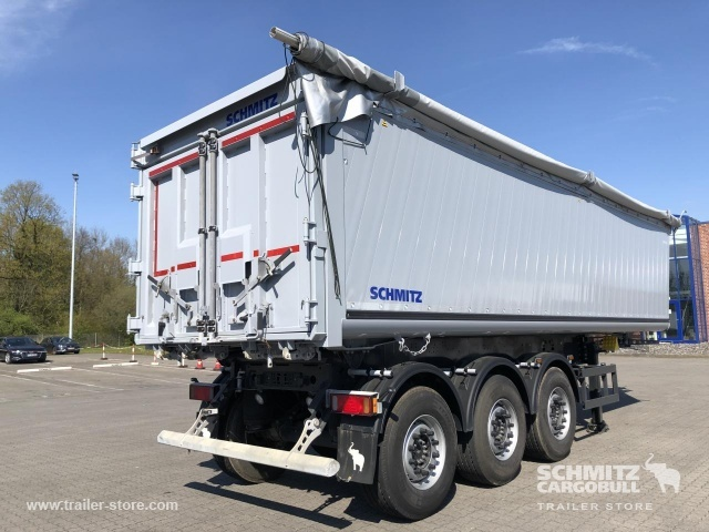 félpótkocsi billenőplatós SCHMITZ Auflieger Kipper Alukastenmulde 40m³