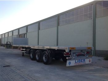 Félpótkocsi platós LIDER 2020 YEAR NEW MODELS containeer flatbes semi TRAILER FOR SALE